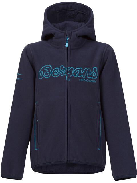Bergans Bryggen Jacket Kids Navy/Dark Turquoise